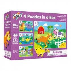 4 Puzzle v krabici - Zvířatka