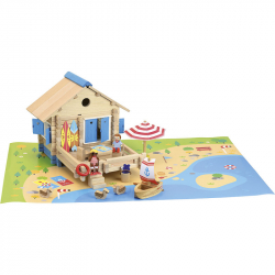 JEUJURA drevená stavebnica plážový domček 120ks