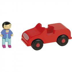 Jeujura Dřevěná auto červené