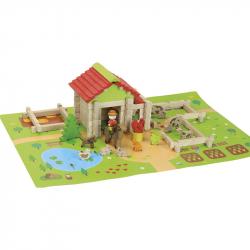 JEUJURA drevená stavebnica Moja prvá farma 80ks