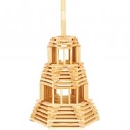 Jeujura Dřevěná stavebnice Tecap 120 dílků