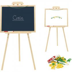 JEUJURA Drevený stojan Creative s tabuľou