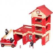 Dřevěná stavebnice Jeujura - Hasičská stanice