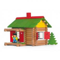 Dřevěná stavebnice Jeujura - 100 dílů