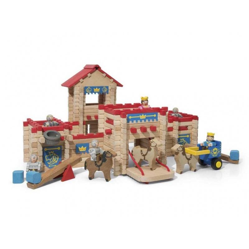 Dřevěná stavebnice Jeujura - 300 dílů - Hrad
