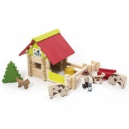 Dřevěná stavebnice Jeujura - 70 dílů - Malá farma