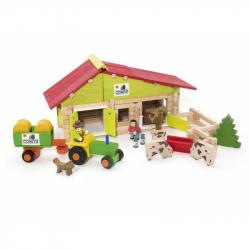 Dřevěná stavebnice Jeujura - 140 dílů - Střední farma
