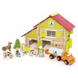 Dřevěná stavebnice Jeujura - 180 dílů - Velká farma