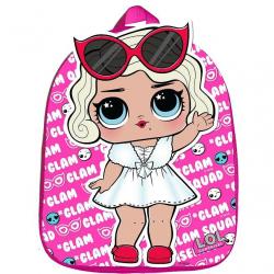 Plecak L.O.L. różowy z literami