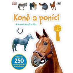 knižka Samolepková Kone a poníky