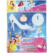 Omalovánka vodová se štětcem Disney Princezny