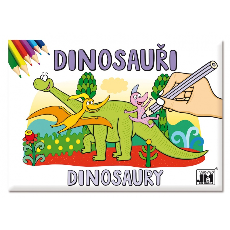 Omalovánka A5, Dinosauři