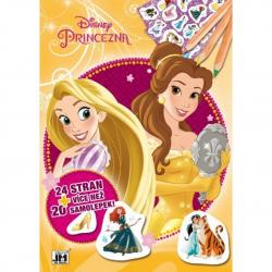 cvičebnice se samolepkami A4 Disney Princezny