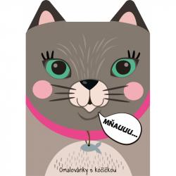 Omalovánka A4 zvířátka - Kočka