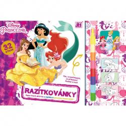 Omaľovánka - Razítkovánky Disney Princezné