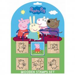 Znaczki 5 + 1 Piggy Peppa