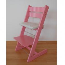 Rosnące krzesełko JITRO KLASIK różowe