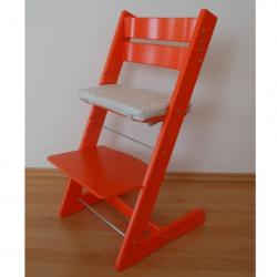 Detská rastúca stolička JITRO KLASIK oranžová