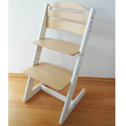 Rosnące krzesełko JITRO BABY biało-bukowa