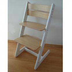 Detská rastúca stolička JITRO KLASIK bielo buková