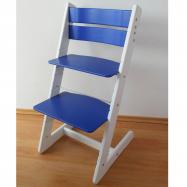 Rosnące krzesełko JITRO KLASIK biało-niebieska