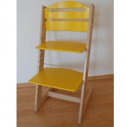 Dětská rostoucí židle Jitro Baby bukovo-žlutá