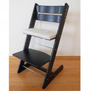 Detská rastúca stolička JITRO KLASIK čierna