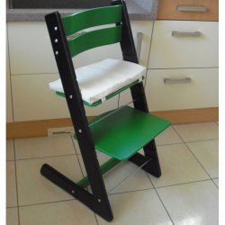 Detská rastúca stolička JITRO KLASIK čierno zelená