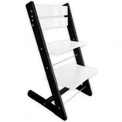 Detská rastúca stolička JITRO KLASIK čierno biela