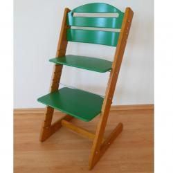 Dětská rostoucí židle Jitro Baby dubovo-zelená