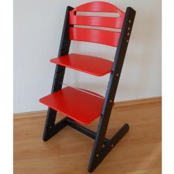 Dětská rostoucí židle Jitro Baby černo-červená