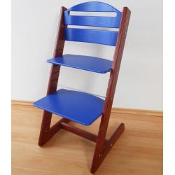 Dětská rostoucí židle Jitro Baby mahagonovo-modrá