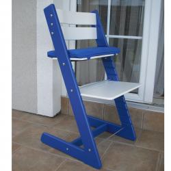 Detská rastúca stolička JITRO KLASIK modro biela