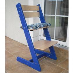 Detská rastúca stolička JITRO KLASIK modro buková