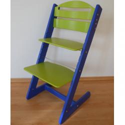 Dětská rostoucí židle Jitro Baby modro-světle zelená