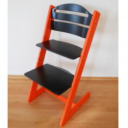 Dětská rostoucí židle Jitro Baby oranžovo-černá