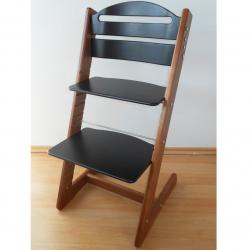 Dětská rostoucí židle Jitro Baby ořechovo-černá
