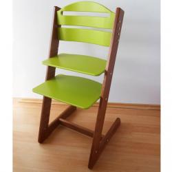 Dětská rostoucí židle Jitro Baby ořechovo-světle zelená