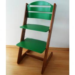 Dětská rostoucí židle Jitro Baby ořechovo-zelená