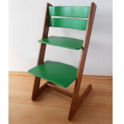 Detská rastúca stolička JITRO KLASIK orechovo zelená
