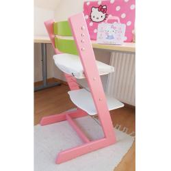 Detská rastúca stolička JITRO KLASIK ružovo sv.zelená biela