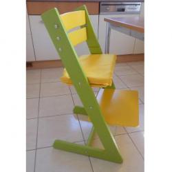 Detská rastúca stolička JITRO KLASIK sv. zeleno žltá