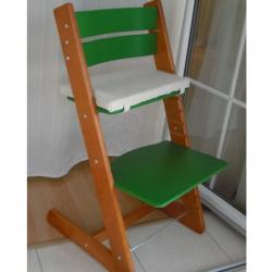 Detská rastúca stolička JITRO KLASIK čerešňovo zelená