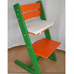 Detská rastúca stolička JITRO KLASIK zeleno oranžová