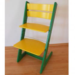 Detská rastúca stolička JITRO KLASIK zeleno žltá