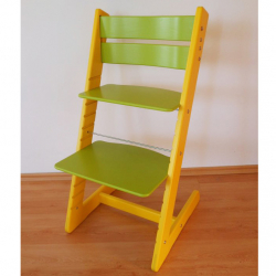 Detská rastúca stolička JITRO KLASIK žlto sv. zelená