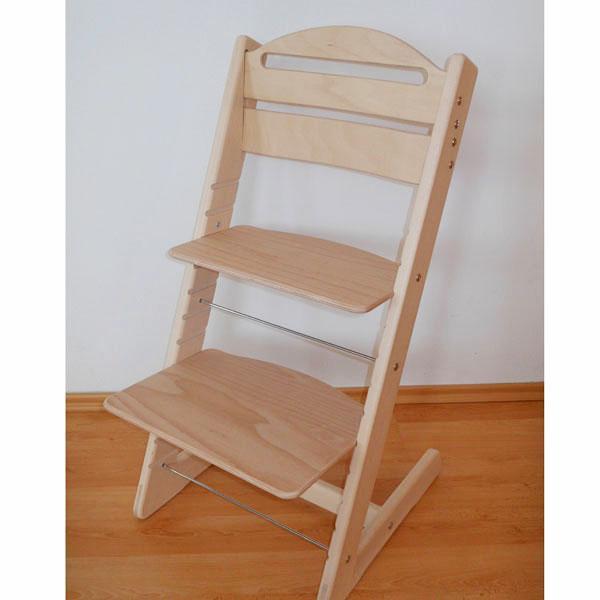 Dětská rostoucí židle JITRO BABY přírodní lakovaná