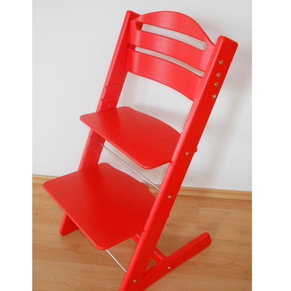 Dětská rostoucí židle JITRO BABY červená