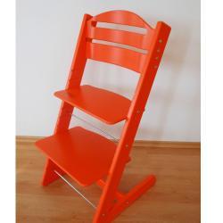 Dětská rostoucí židle JITRO BABY oranžová