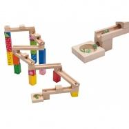 Dřevěná kuličková dráha 33 dílů